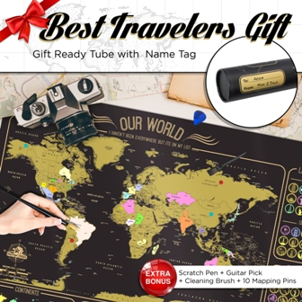 scratch map travel