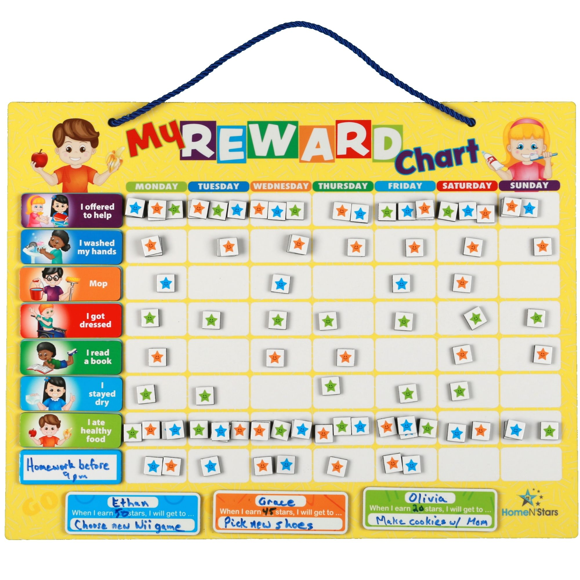 Reward Chart for Kids, Responsibility chart, Chore Chart for Toddlers,